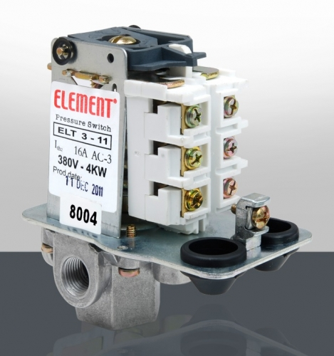 ELEMENT 4-16 BAR 380V BASINÇ ŞALTERİ